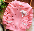 (1piece /lot) 100% cotton 2015 New spring lace bear girl jacket