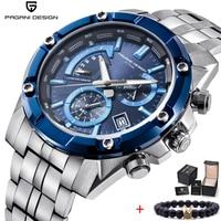 PAGANI DESIGN 2020 새로운 럭셔리 브랜드 크로노 그래프 비즈니스 시계 남자 방수 석영 스포츠 야외 군사 시계 시계 남자