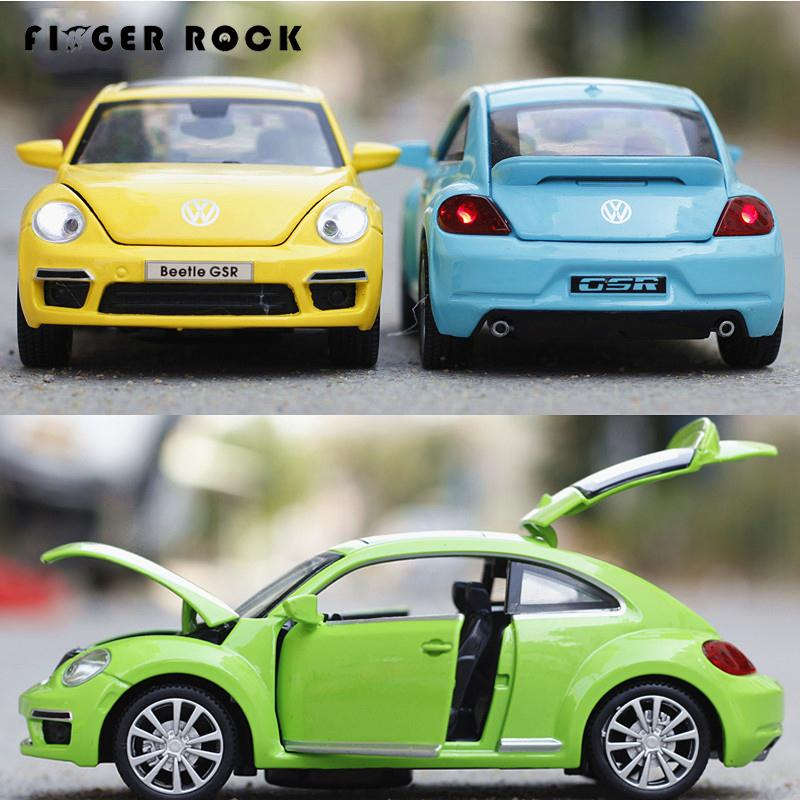 Volkswagen Beetle 1:32 Cars Model Children Simulation Diecast Alloy Toy Metal Cars with Light and Sound Birthday Gift to Boy все цены