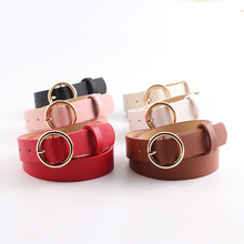 цена на Women Imitation Leather Belt Alloy Knotted Pin Buckle Belt New Small Slim Jeans Fashionable Hot Sale Belt Ceinture for Female