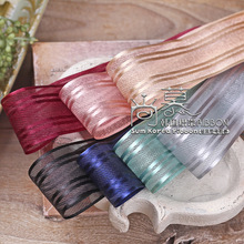 100yards 25mm 38mm satin stripes organza sheer ribbon for girl hair bow accessories wedding party decoration handcraft supplies