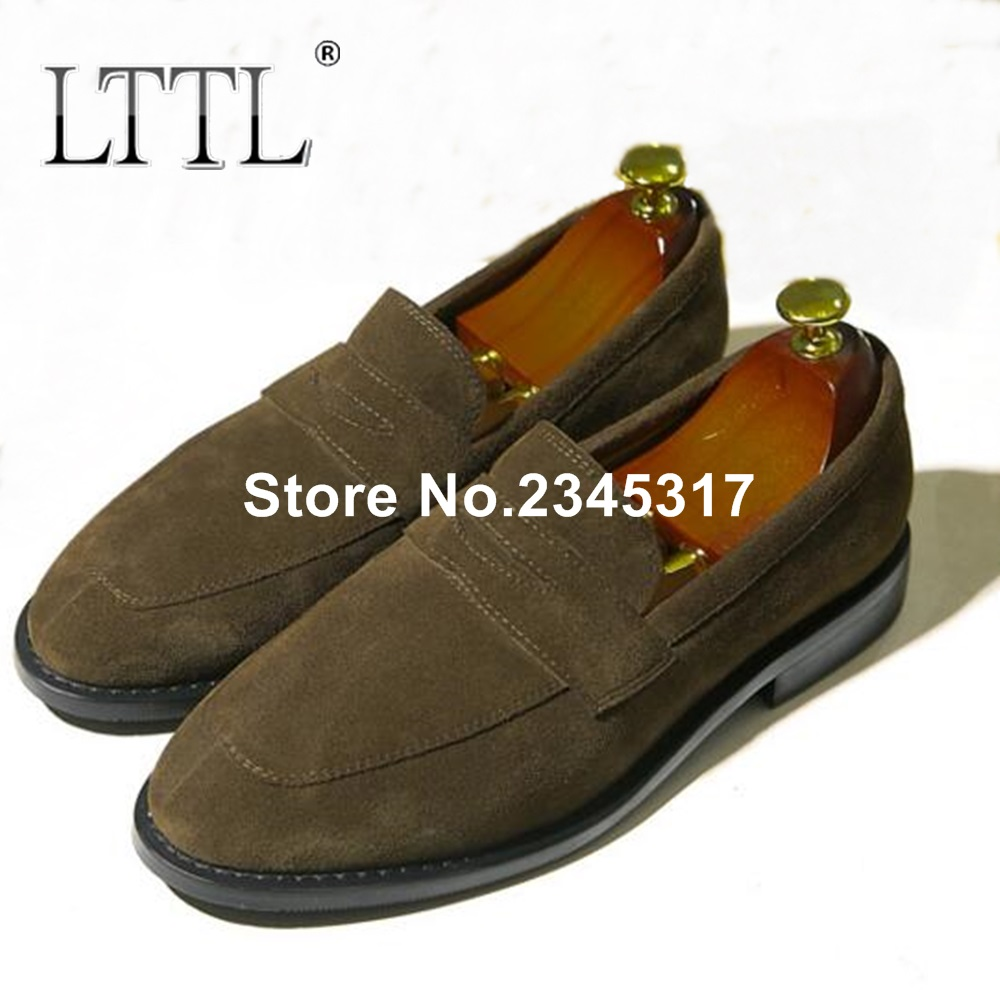 Men Suede Shoes New Fashion Handmade Summer Men Loafers Plus Size Casual Shoes Men Penny Loafer Shoes Slip-ons Dress Shoes blaibilton summer loafers men shoes 100