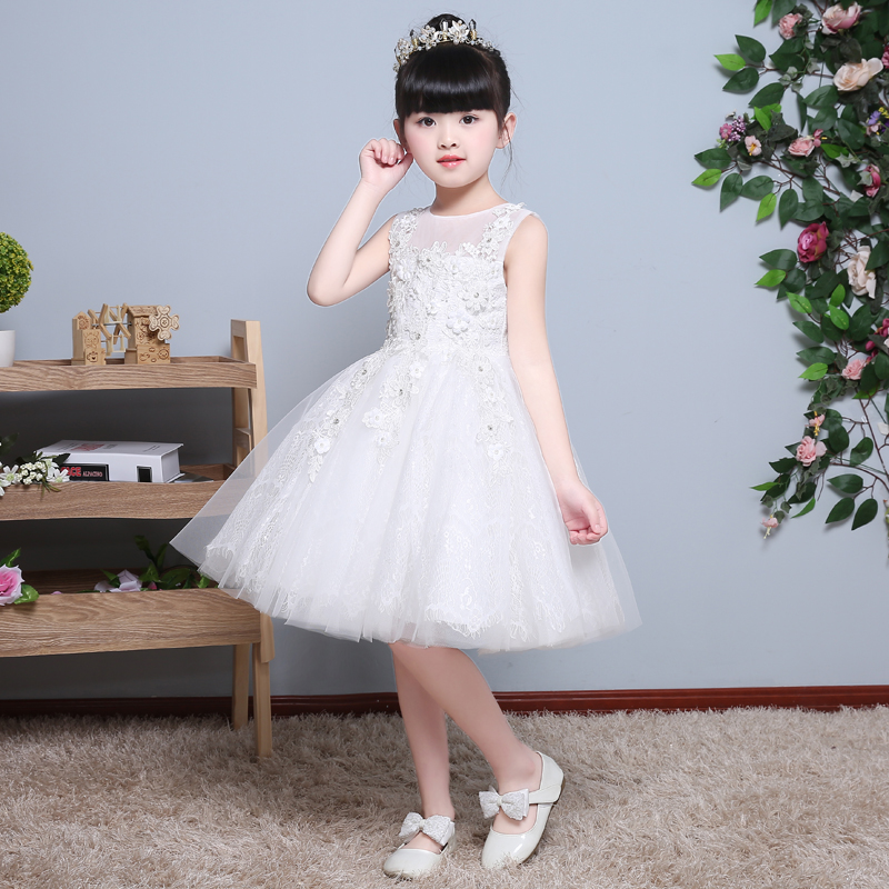2017 Baby Girl Dress Children Kids Dresses For Girls 3 4 5 6 7 8 Year Birthday Outfits Dresses Girls Evening Party Formal Wear summer wedding party princess girl dresses formal wear 2 3 4 5 6 7 8 years birthday dress for girls kids bow tie girls clothes