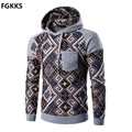 2017 New Spring Brand Pullover Hoodies Men Fashion Men Patchwork Hoody Male Printed Hoodie Sweatshirt Casual Slim Mens Hooded