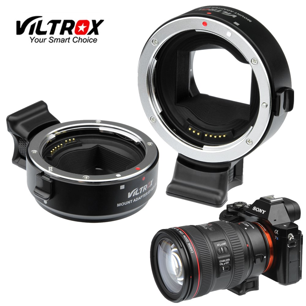 Viltrox EF-NEX III Auto Focus Lens Adapter for Canon EOS EF EF-S Lens to Sony E NEX Full Frame A7 A7RII A7SII A6300 A6000 NEX-7 meike for eos ef nex auto focus electronic adapter for canon ef efs lens to sony nex e mount