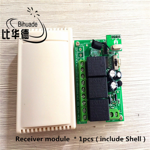433Mhz Universal Wireless Remote Control Switch DC 12V 3CH Relay Receiver Module and RF Transmitter 433 Mhz Remote Controls dc 12v led display digital delay timer control switch module plc automation new
