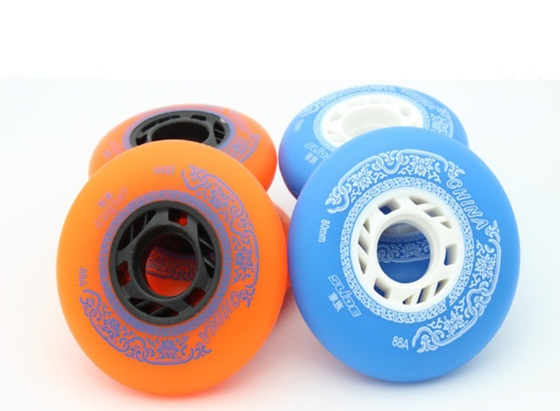 2019 4pcs/lot 88A Professional Chinese Element Inline Brake Wheels Roller Skates Slalom Skating Roller Wheels Wear-resisting