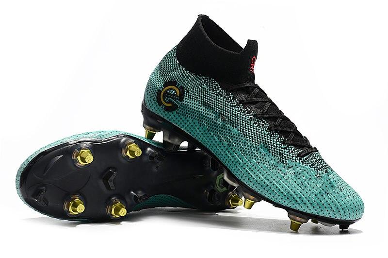 Prix le moins cher ZUSA Superfly VI Elite SG bottes de Football hommes haute cheville SG chaussures de Football ventes US6.5-US12