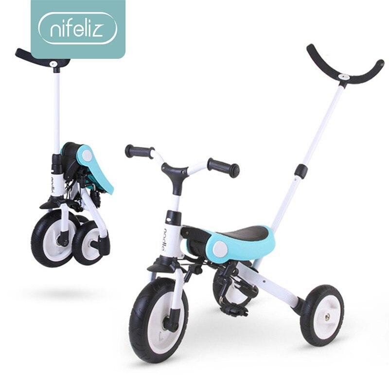 Enfants Tricycle Ride sur jouets enfants vélo pliant 2-3-6 ans bébé vélo pliant portable