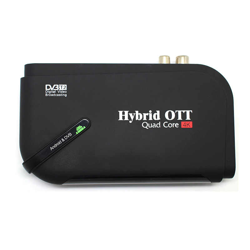 DVB-T2 спутниковый ресивер и Android tv box 1080P HD Amlogic S905 Quad core Bluetooth 4,0 H.265 HEVC 4 К Smart media player ТВ-тюнер