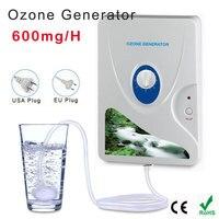 110ボルト/220ボルト600ミリグラム/hhome殺菌オゾン発生器イオナイザーo3タイマー空気清浄機油野菜肉新鮮な水を浄化
