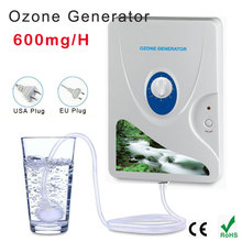 цена на Home sterilizer 220V 110V 600mg/h Ozone Generator Ozonator ionizer O3 Timer Air Purifiers Oil Vegetable Meat Fresh Purify Water