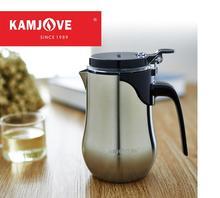 Freies verschiffen Kamjove neue ankunfts-elegante tee tasse edelstahl teekanne blume teekanne edelstahl tasse tee-set