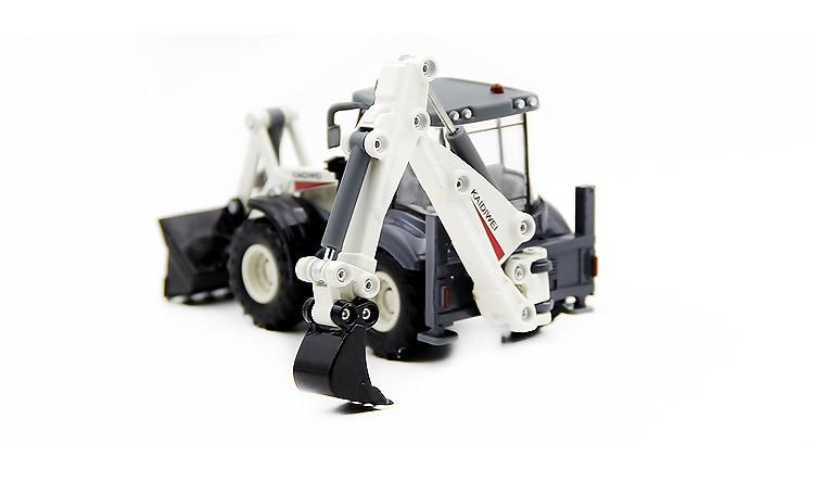 Alloy Diecast Excavator 1:50 4 Wheel Shovel Loader