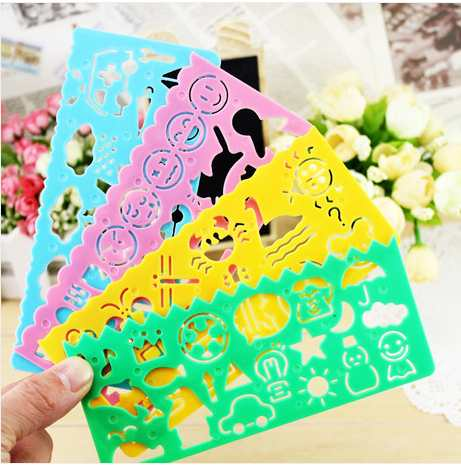 Cartoon Drawing Ruler Child Grader Student Gift Prize Paint Learning Notebook/coloring Notebook Plastic Board