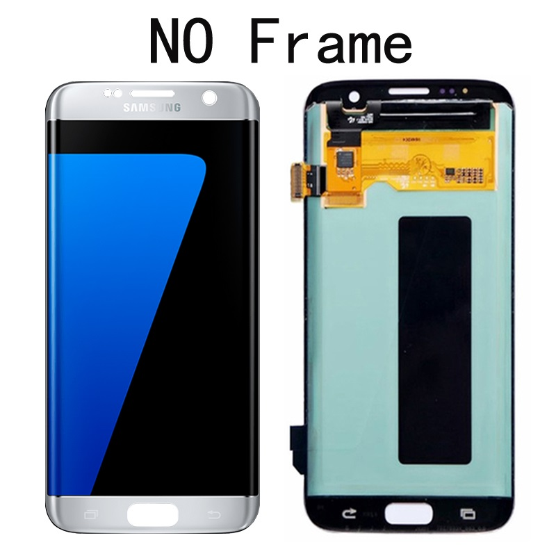 "5.5"" Replacement The Burn-Shadow Display For SAMSUNG S7 Edge Pantalla G935 G935F LCD Screen Repair With Frame + Service Pack"
