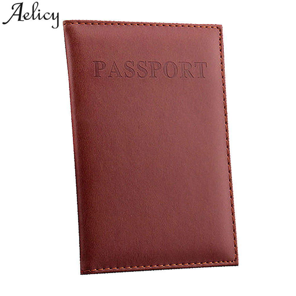 Aelicy New Dedicated Nice Passport Holder Documents Bag PU Leather Card Holder Travel Passport ID Cover Card Case dedicated nice travel passport case id card cover holder protector organizer super quality card holder