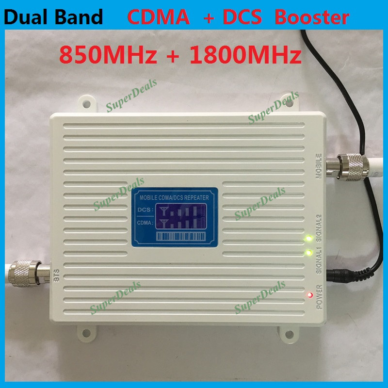 LCD 2G CDMA 850MHz GSM repeater 1800MHz DCS booster <font><b>Mobile</b></font> <font><b>Phone</b></font> Signal Booster , 2G <font><b>4G</b></font> FDD <font><b>LTE</b></font> repetidor de sinal de celular