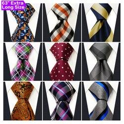 Оптовая продажа, мужские галстуки, очень длинные галстуки, размер 63 дюйма, бесплатная доставка, 100% шелк, свадебная мода, смешанный набор