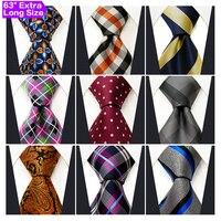 Toptan Çeşitli Erkek Kravatlar Kravat Ekstra Uzun Boyutu 63 inç Ücretsiz Kargo 100% Ipek Düğün Moda Karışık Lot