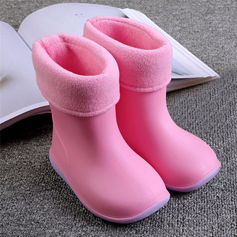 Rainy Season Rubber Boots Children Boots For Girls Boys Toddler Kids Water Shoes Rainboots Candy Color Antiskid Waterproof Shoes