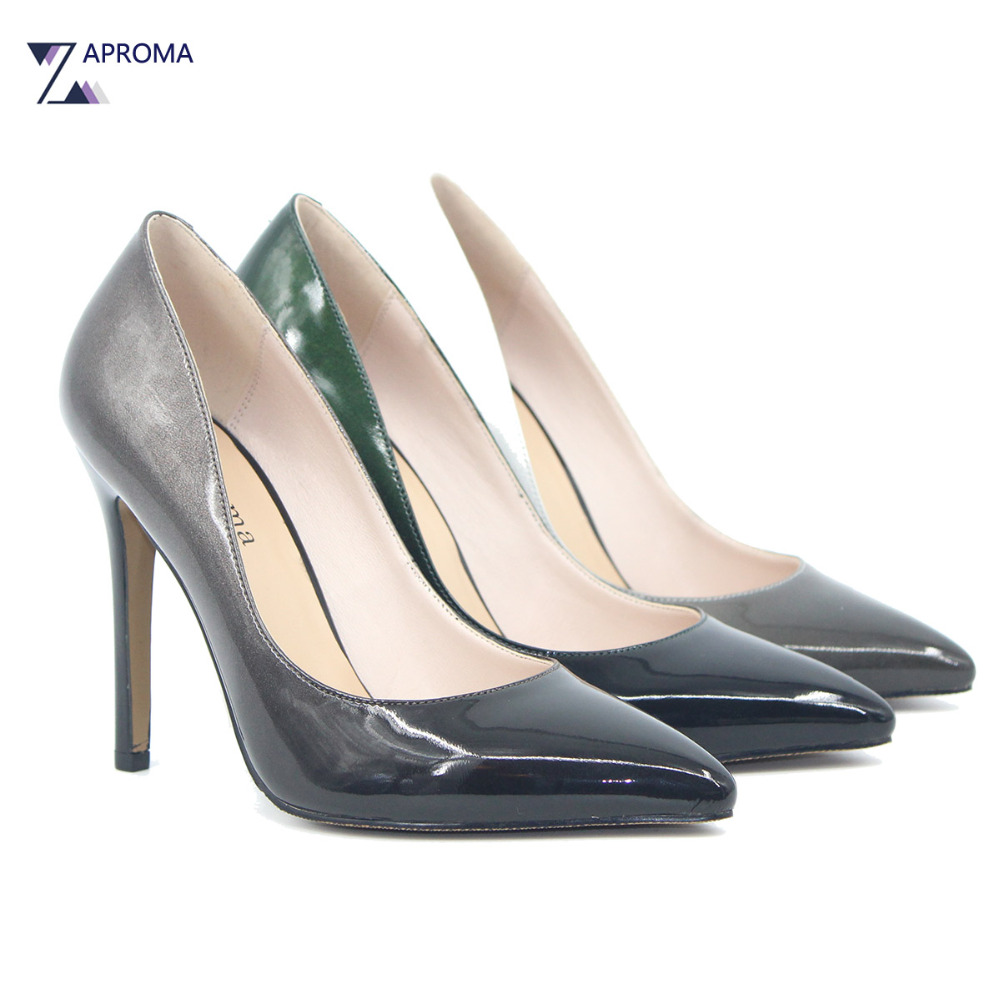 Elegant Multi Color Gradient Super High Heel Pumps Women Thin Heel Shallow Slip On Sexy Clear Party Shoes Spring Lady Point Toe цена