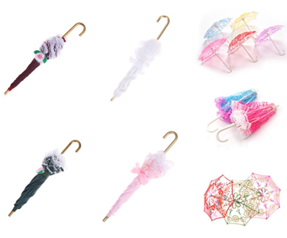 Cute Umbrella Doll Accessories Handmade Doll's Embroidered Umbrella For Dolls Toy Accessories Gift For Children