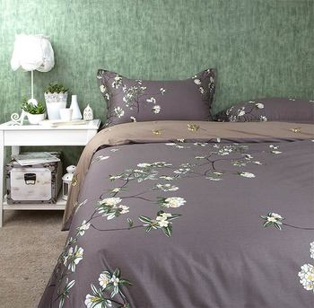 Trend japanese rustic floral bed sets,4pc full queen king cotton,french pastoral home textiles flat sheet pillowcase duvet cover