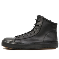 High Top Leather Sneakers Men Boots New Fashion Men Casual Shoes Breathable Street Shoes Teenager Boys Fashion Causal Footwear