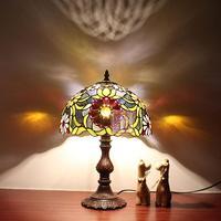 Pastoral retro Tiffany European desk bedroom bedside lamp bar creative glass eye energy saving home desk lamp vintage light
