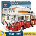 1342 шт. Новый Лепин 10569 Техника Мобильных Эксперта T1 Camper Van Комплект 3D Модель Блоки Игрушки Кирпичи Указан Совместимость с Lego