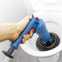 High Pressure Air Drain Blaster Pump Plunger Sink Pipe Clog Remover Toilets Home Bathroom Kitchen Cleaner Kit