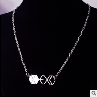 Fashion Jewelry Silver Charm EXO Pendant Necklace For Men And Women,original factory supply