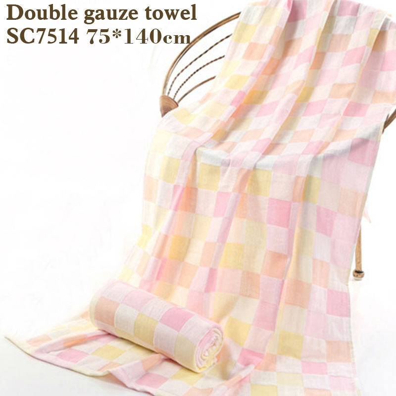 cotton bath towel double gauze squares printed baby towelThin section easy to dry Don't wash cotton terry towel gauze towel