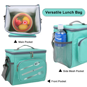Image 3 - Insulated Lunch Bag Tote Box Picnic Tote with Adjustable Shoulder Strap Leakproof & Fashionable Cooler Tote Bag for Adult & Kids