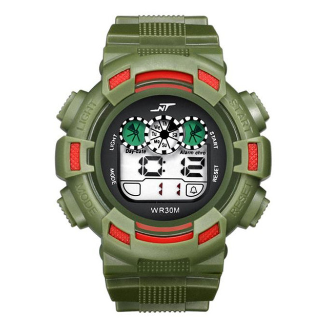 New Fashion 2017 Mens LED Digital Date Alarm Waterproof Rubber Sports hsome practical  wise Army Watch Wristwatch P*21