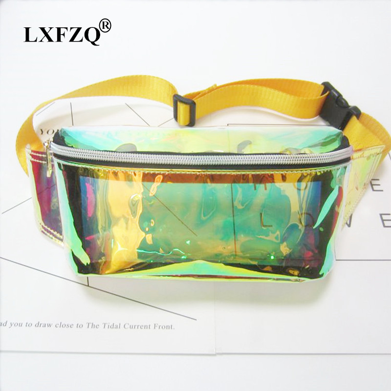 LXFZQ fanny pack fanny pack for women Laser purse translucent reflective chest waist bag women belt bag waist leg bag waist pack