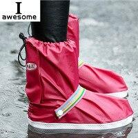 Hight qualité en gros Nouvelle mode 5 couleurs pluie Chaussures Couvre Étanche pour Femmes et hommes zapatos cubren réutilisable couvre-chaussures