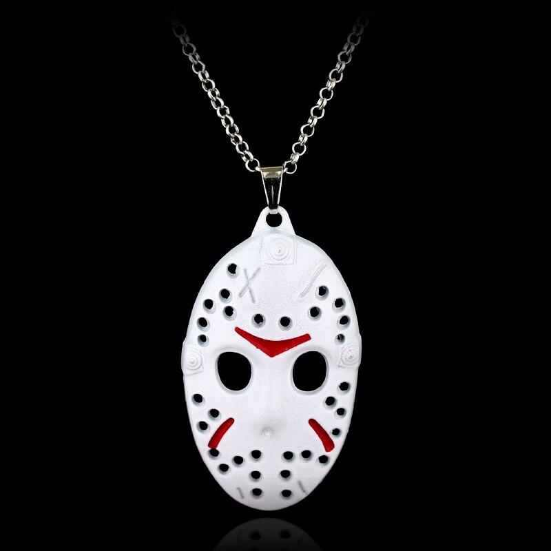 Wholesale Movie Friday The 13th Jason Vorhees White Mask Necklace Horror Jason Vorhees Hocky Mask Pendant Necklace ...