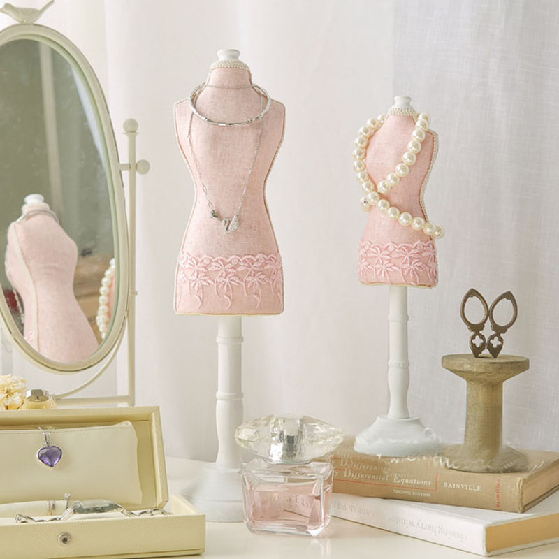 DIY Retro Big Size 40x10cm Jewelry Model Display Stand Necklace Showing Rack Earring Hanging Holder Bracelet Shelf ZAKKA