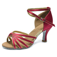 2014 Hot Sale Brand New Women S Ballroom Latin Tango Dance Shoes Heeled Sales Promotion 5color