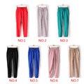 7 cores do verão das Mulheres Calças Com Cordão Elástico Na Cintura Chiffon Harem Pants Calças de senhora calças compridas