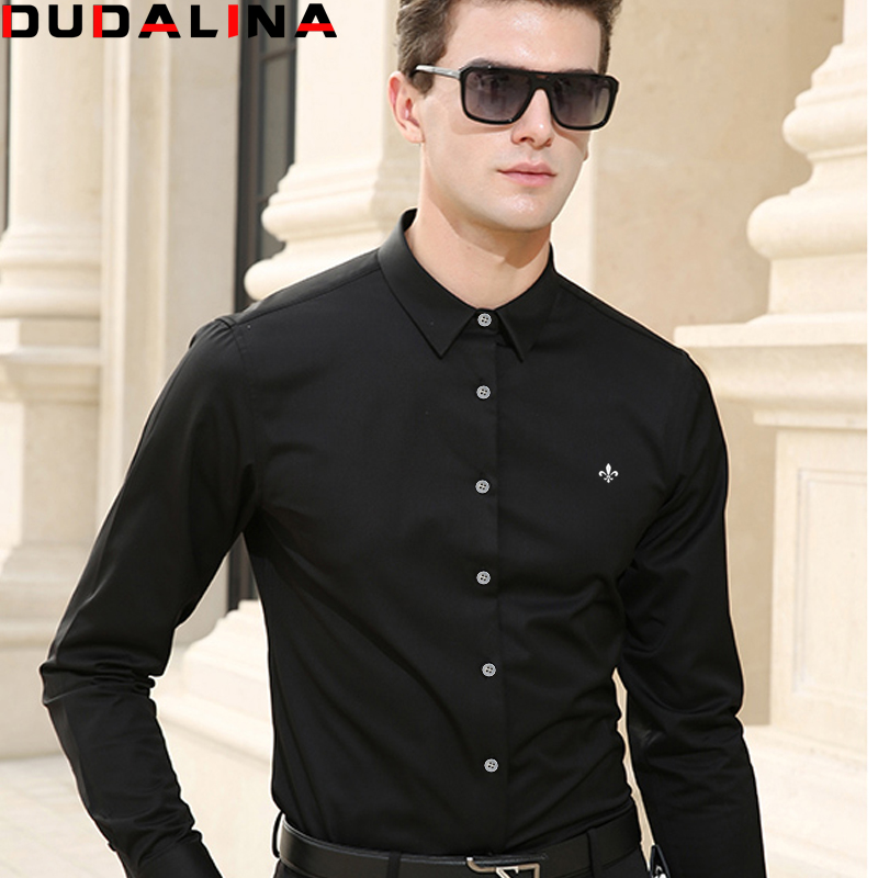 dudalina camisa men shirt long sleeve brand clothing. Black Bedroom Furniture Sets. Home Design Ideas