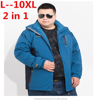 PLUS 10XL 8XL Winter Jacket Men New Arrival Casual Loose Thick Warm Mens Coats Parkas With Hooded Long Overcoats Clothing Male