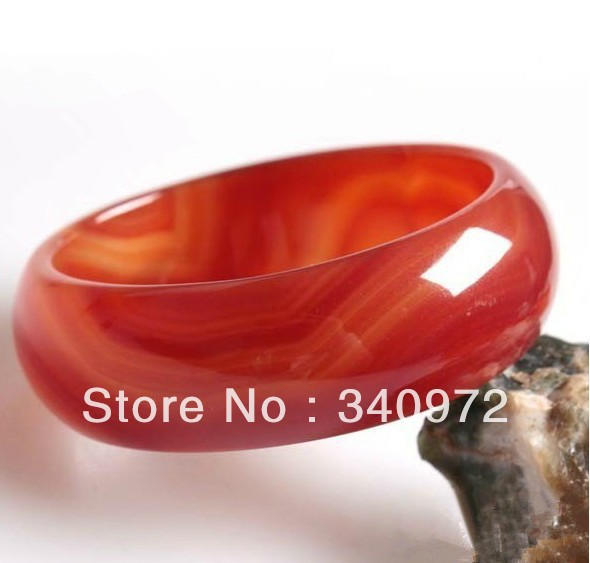 Raw Jade Bracelet Stone Agate Natural Red Genuine Sub Widening