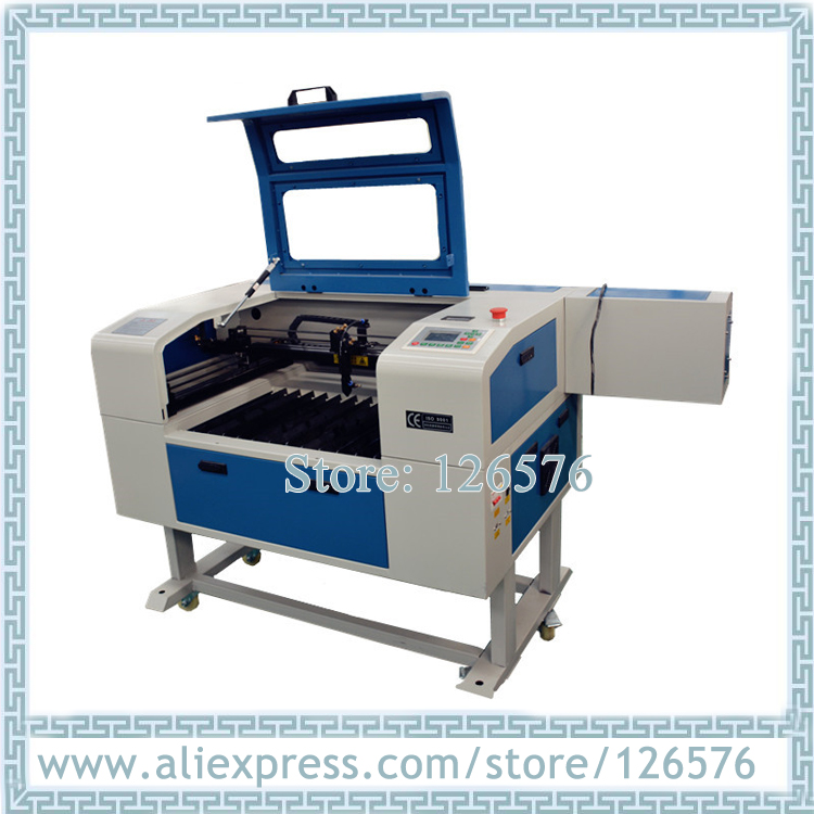 6040 laser gravur und schneiden maschine CO2 Laser rohr 600X400mm Laser stecher