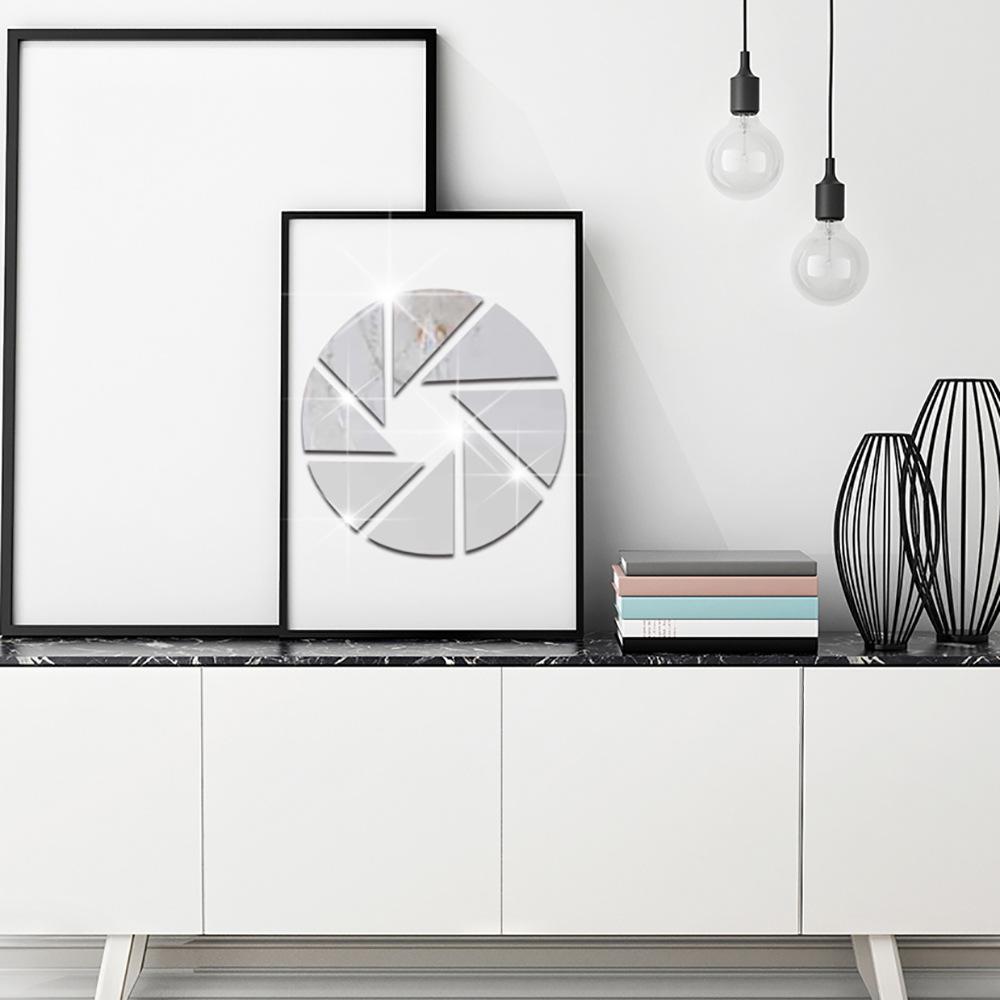 patrones geomtricos combinacin ronda acrlico adhesivo espejo decorativo espejo decoracin del hogar etiqueta de la