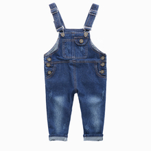 Boys Jeans Overalls 2017 New Fashion Autumn Children Strap Solid Cartoon Jumpsuit Casual Style Kids Girls Overalls Pants Ov009