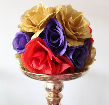 SPR Free shipping Wedding bride flowers plastic center MIX COLOR artificial flowers ball-wedding kissing FLOWER ball-15cm