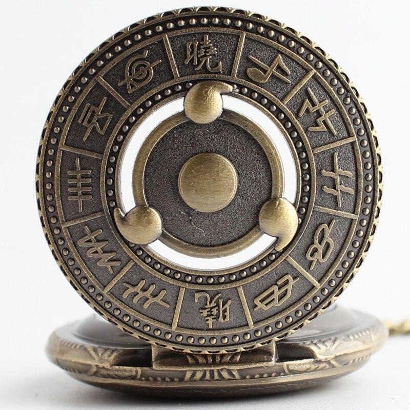 Hot Japanese Animation Naruto Theme Bronze Quartz Pendant Pocket Watch With Necklace Chain Best Gift tz#12 цена 2016
